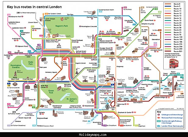 London Map Tourist Attractions – Map Of London Tourist Sites