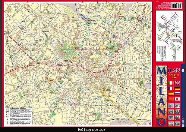 Map of Milan Tourist – Milan Tourist Map
