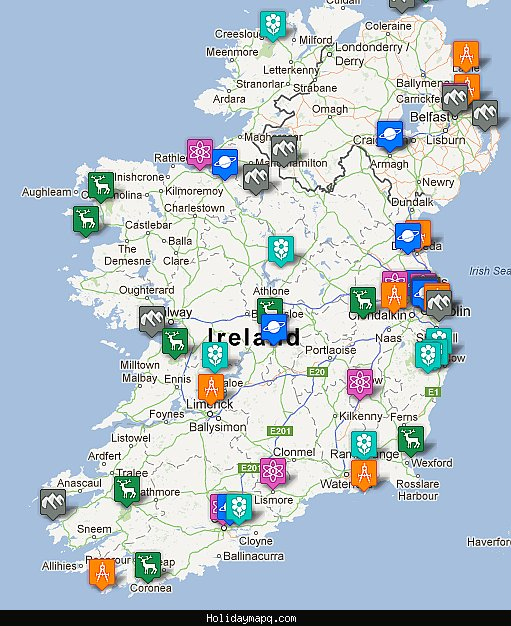 Ireland Map Tourist Attractions – Ireland Tourist Map