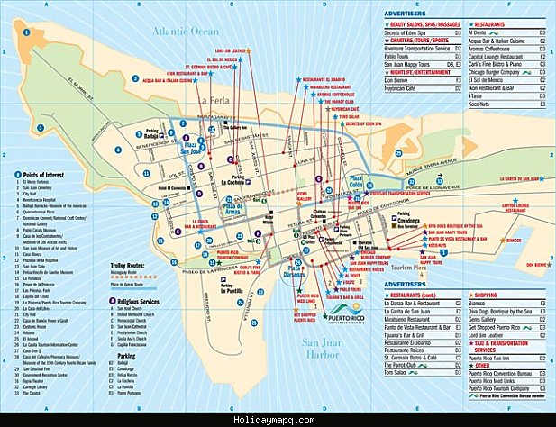 San Juan Map Tourist Attractions – San Juan Tourist Attractions Map