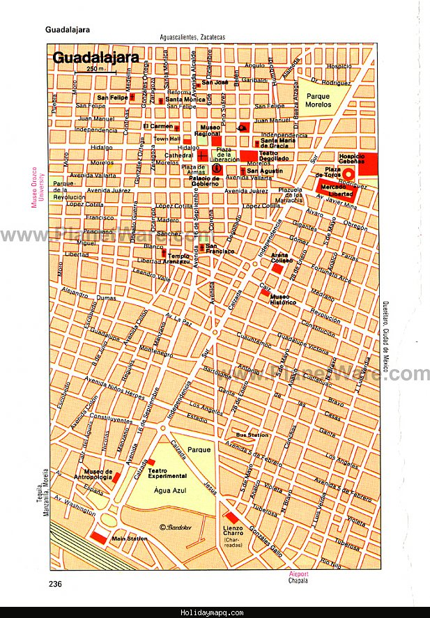 Mexico City Map Tourist Attractions – Mexican Tourist Attractions Map