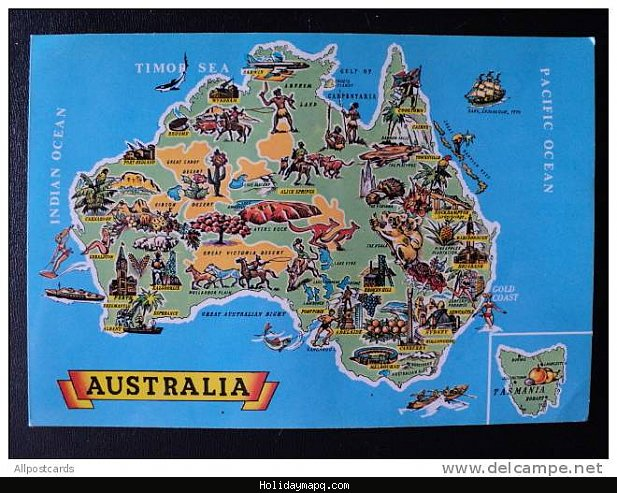Map of Australia Tourist – Tourist Attractions Map In Australia