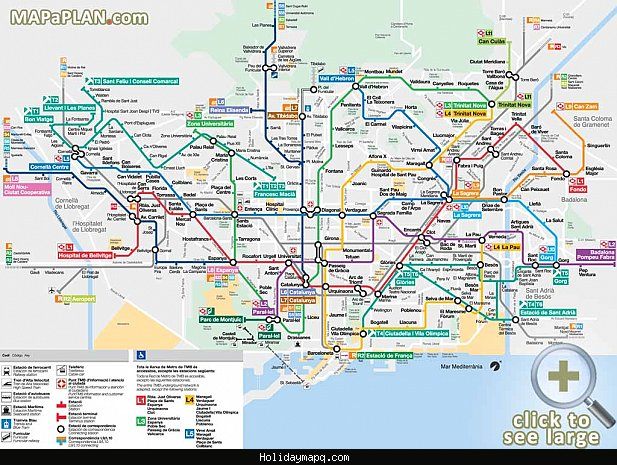 Barcelona Map Tourist Attractions – Barcelona Tourist Attractions Map