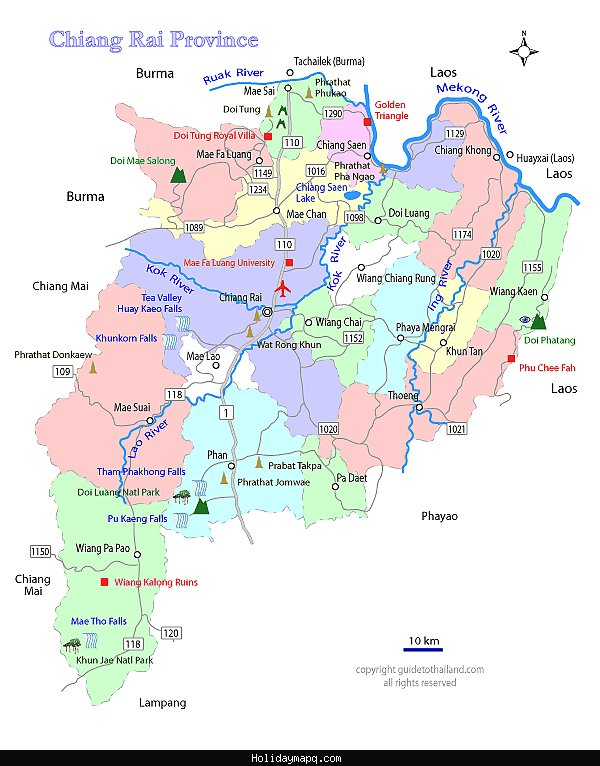 chiang-rai-thailand-travel-map
