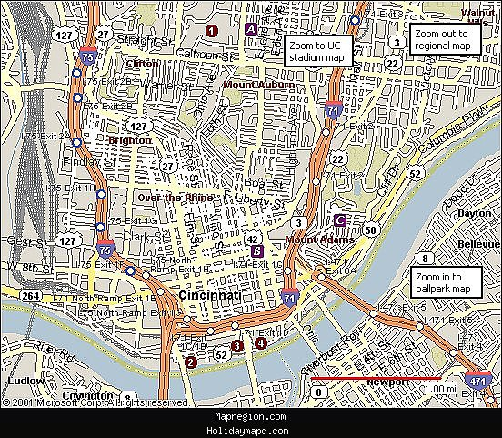 Cincinnati Map Tourist Attractions – Cincinnati Tourist Attractions Map