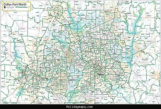 dallas-fort-worth-wall-maps-in-paper-laminated-or-mounted