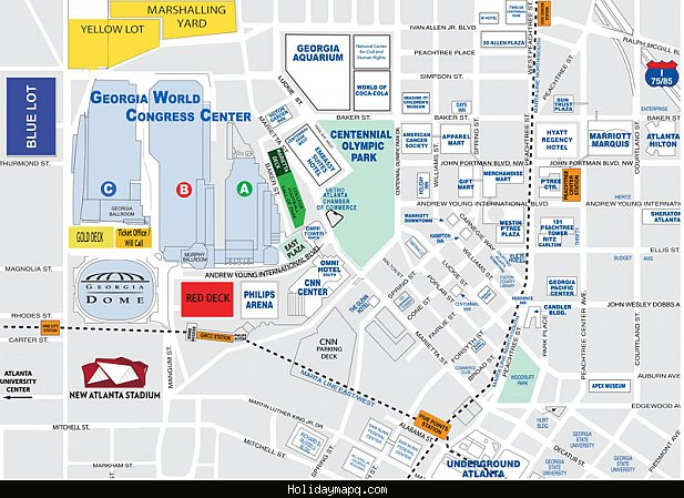 Atlanta Map Tourist Attractions – Tourist Attractions Map In Atlanta