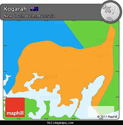 free-political-simple-map-of-kogarah