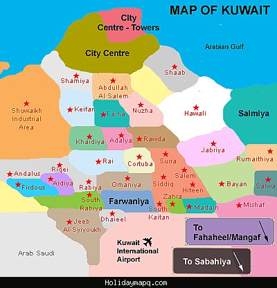 Kuwait metro map holidaymapq free printable maps kuwait city street map printfree gumiabroncs Image collections