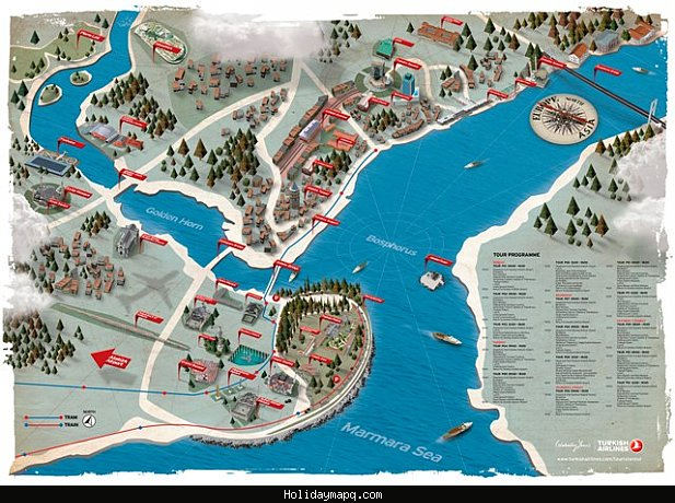 Istanbul Map Tourist Attractions – Tourist Map Of Istanbul Attractions
