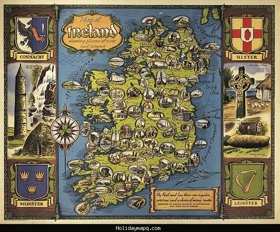 Map of Ireland Tourist – Tourist Map Of Ireland