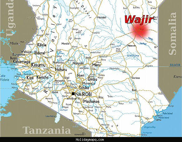 Map of Wajir