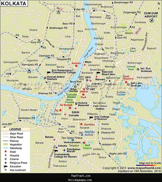kolkata-map-tourist-attractions-maptract-com-