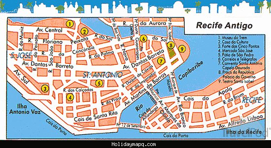 Recife Map HolidayMapQcom