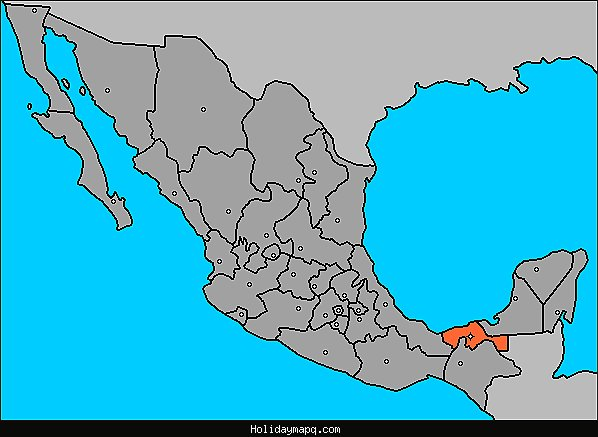 map-of-tabasco-villahermosa-mexico
