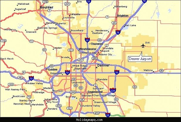 Denver Map Tourist Attractions HolidayMapQcom