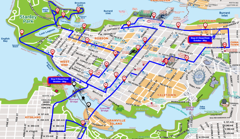Vancouver Map Tourist Attractions – Vancouver Tourist Attractions Map