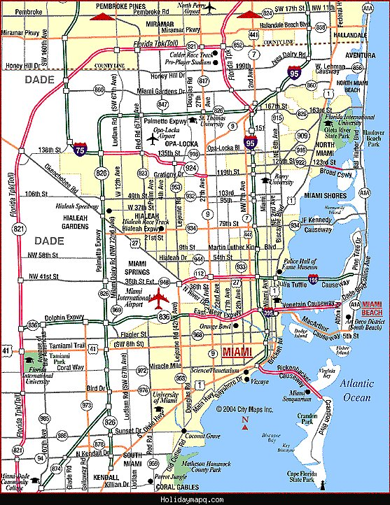 Miami Map Tourist Attractions – Map Of Florida Tourist Attractions
