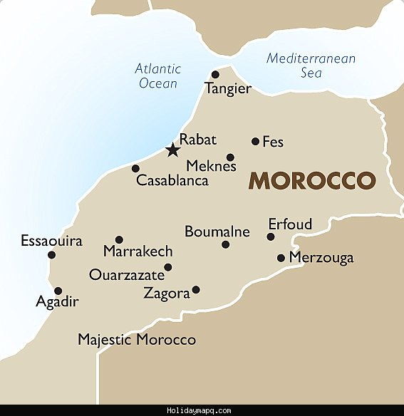 Map of Morocco Tourist – Morocco Tourist Map