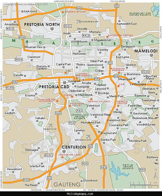 pretoria-map-south-africa