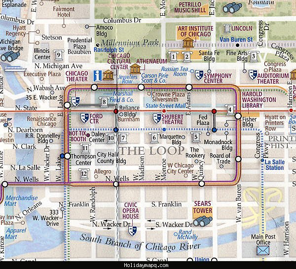 Chicago Map Tourist Attractions – Chicago Tourist Map