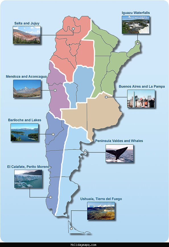 Map of Argentina Tourist – Tourist Map of Argentina