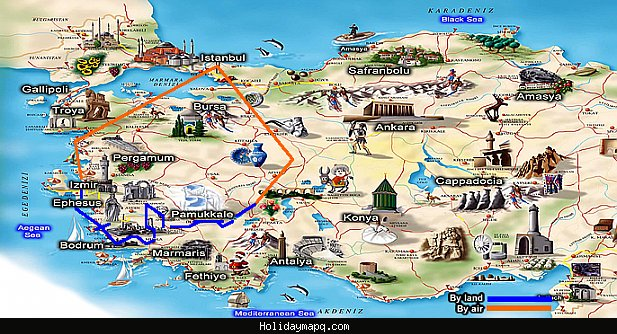 Turkey Map Tourist Attractions – Tourist Map Of Istanbul Attractions