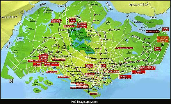 Singapore Map Tourist Attractions – Singapore Tourist Attractions Map