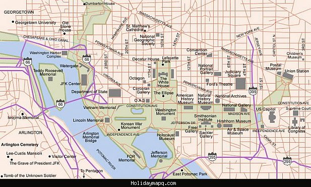 Washington Map Tourist Attractions – Dc Tourist Attractions Map