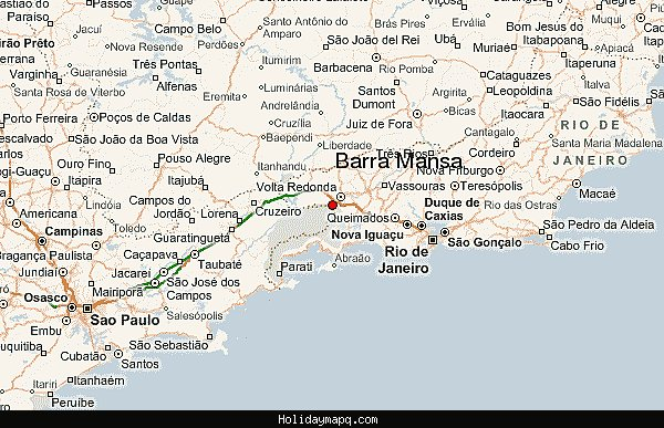 Map of Barra Mansa