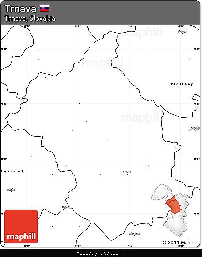 free-blank-simple-map-of-trnava