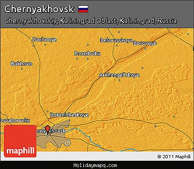free-political-3d-map-of-chernyakhovsk