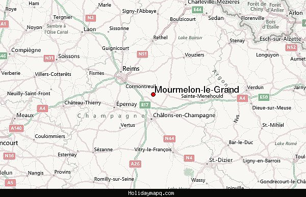 Map of Mourmelon le Grand