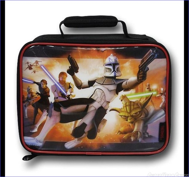 Star Wars Clone Wars Soft Lunchbox- Open View