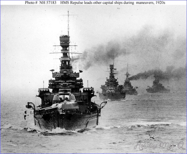 World War II Photograph: HMS Repulse leading other Royal Navy Capital ...