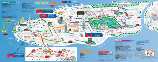 New York Metro Map Tourist Attractions - HolidayMapQ.com ®