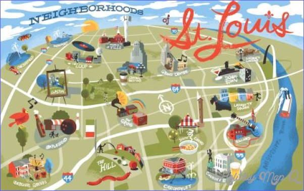 St. Louis Map Tourist Attractions - HolidayMapQ.com