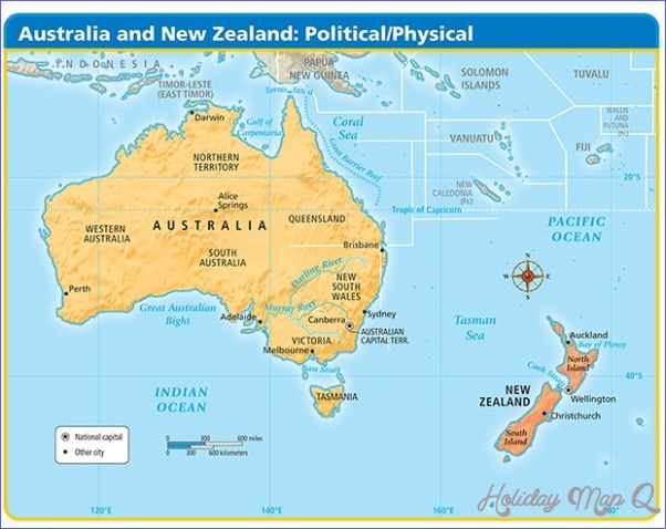 Physical Map Of Australia And New Zealand Map Holiday Travel - Australia physical map