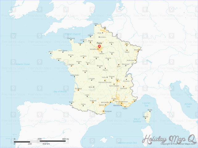Vector Map of France with Regions | Free Vector Maps