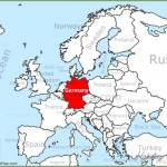 Germany on a map and travel information | Download free Germany on a map
