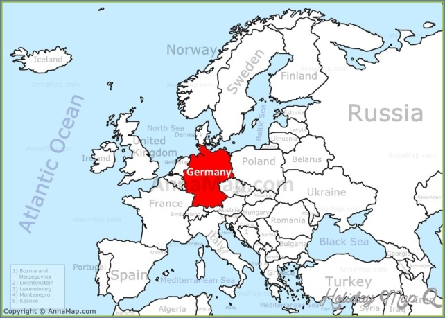 Germany On Map Of World.Where Is Germany Germany Map Germany Map Download Free