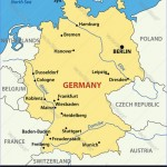 Map of Germany Royalty Free Vector Image