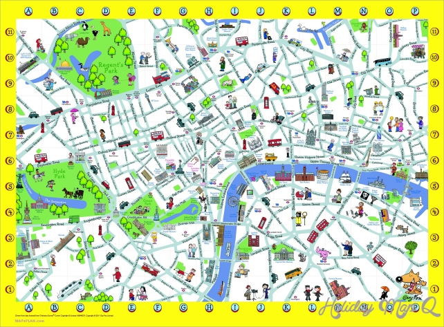London Detailed Landmark Map | London maps - Top tourist attractions