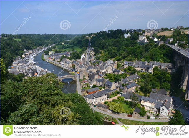 View of VIRE (Fracnce) stock photo