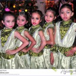 Chiang Mai, Thailand: Five Thai Girl Dancers Editorial Photography