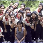 With the school girls of Sacred Heart Girls College Chiang Mai at