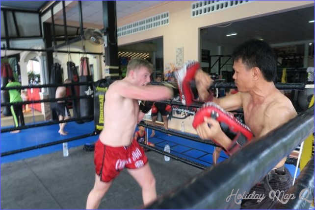 Muay Thai pad work with our world champion trainer Ajarn Sanong