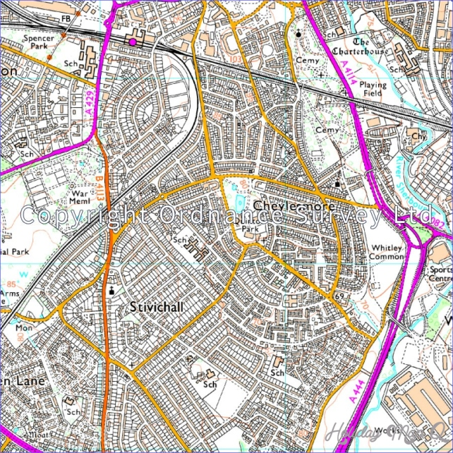 Map of Coventry & Warwick - OS Explorer Map