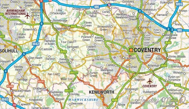 Digital vector map of Greater Birmingham-Coventry
