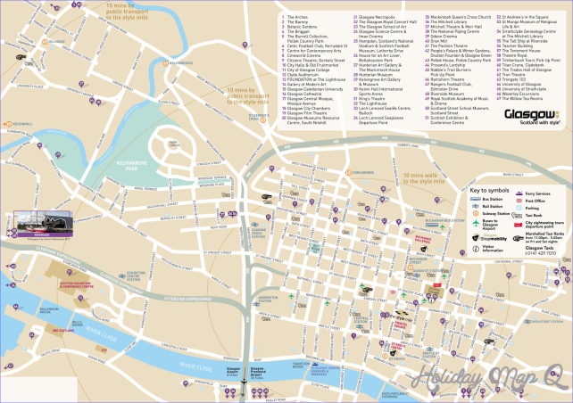 Large Glasgow Maps for Free Download and Print